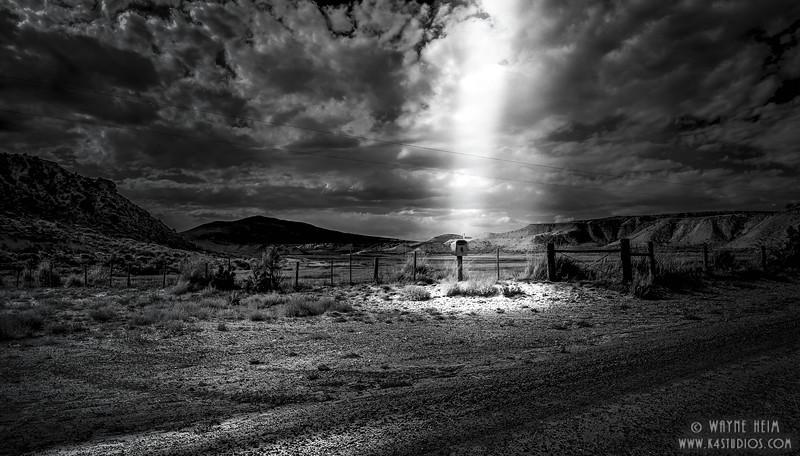 Mail Box    black & White Photography by Wayne Heim