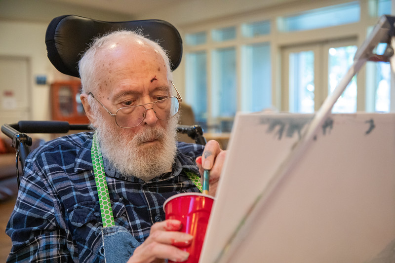 Angel Brook Senior Living Art Therapy