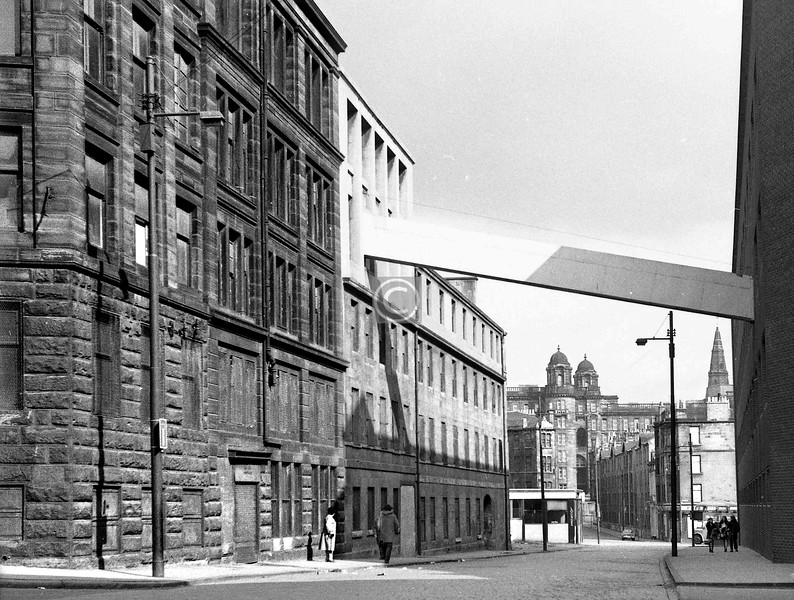 St James Rd, east of Taylor St.  The Villafield Press.  April 1973