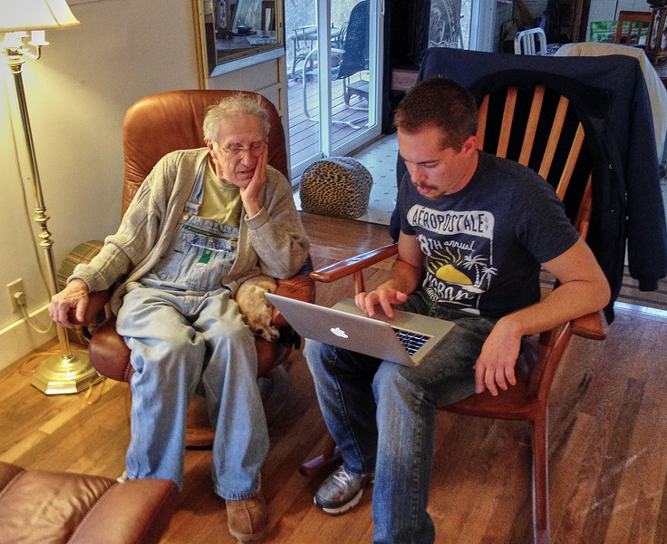 Nick, tutoring Larry Lebin at Larry's house. Mar 1 2013