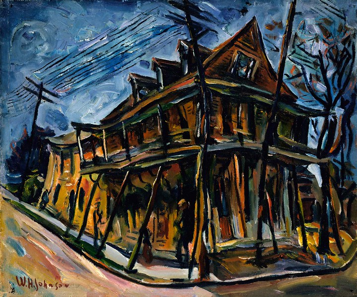 "William H. Johnson, ""Jacobia Hotel"" (1930)"
