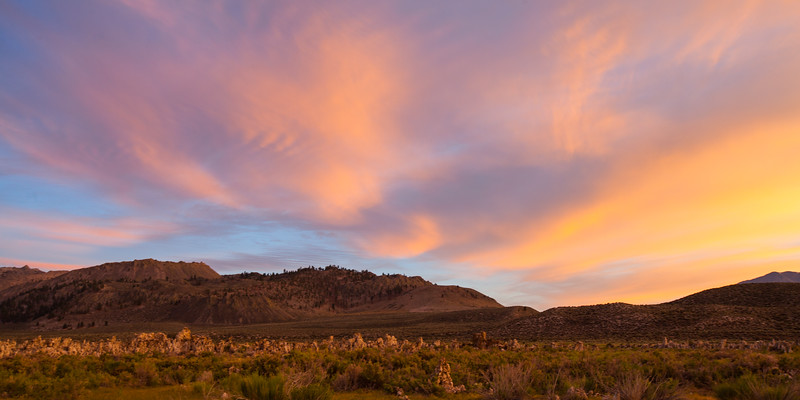 Sunset near Mono Lake