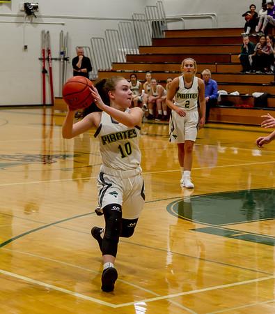 First Quarter Set one: Vashon Island High School Girls Varsity Basketball v Aberdeen