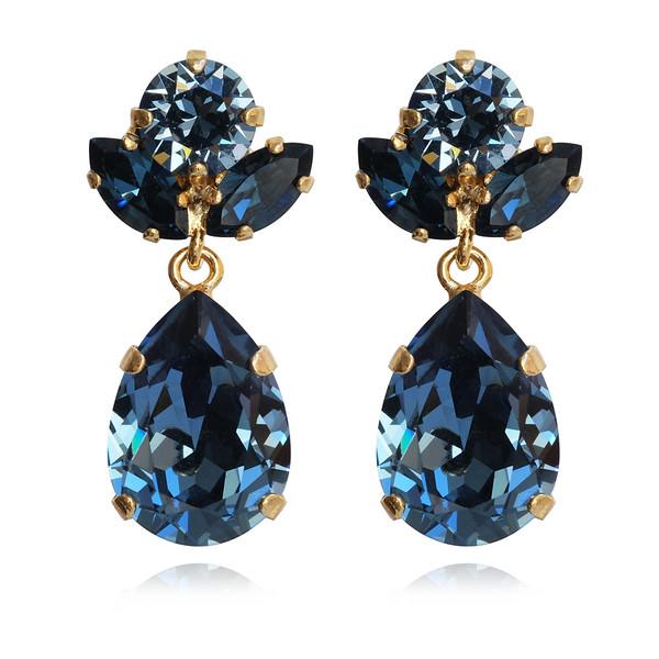 Isadora Earrings / Denim Blue + Montana / Gold