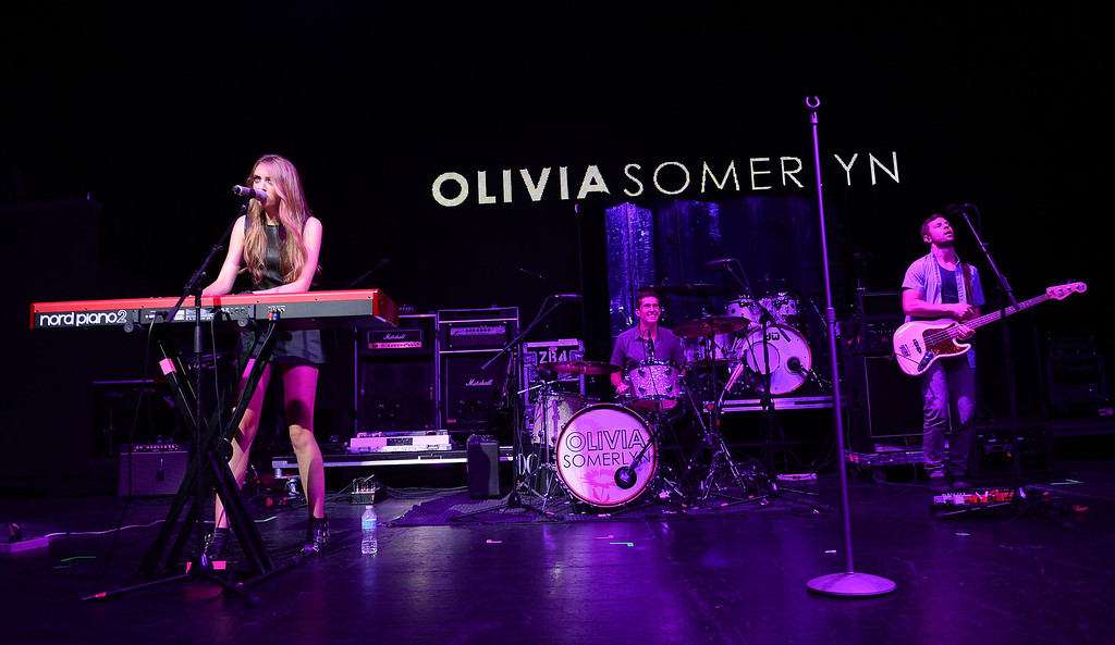 . UNIVERSAL CITY, CA - AUGUST 16:  Singer Olivia Somerlyn performs at the Gibson Amphitheatre on August 16, 2013 in Universal City, California.  (Photo by Mark Davis/Getty Images)