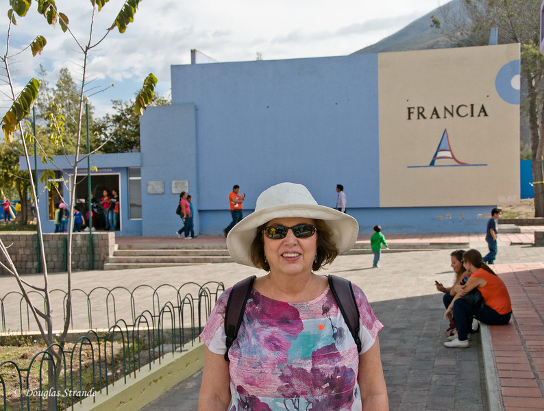 "Quito, Ecuador Louise at the ""Francia"" building"
