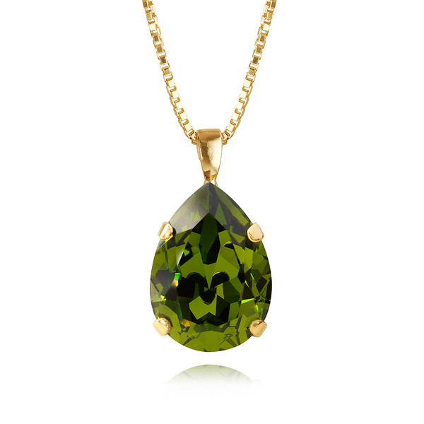 Classic Drop Necklace / Olivine Gold