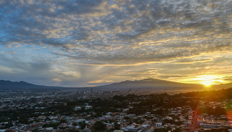 Sunrise over Escazu, San Jose, Costa Rica