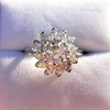 2.87ctw old European Cut Diamond Spray Ring GIA J SI1 6