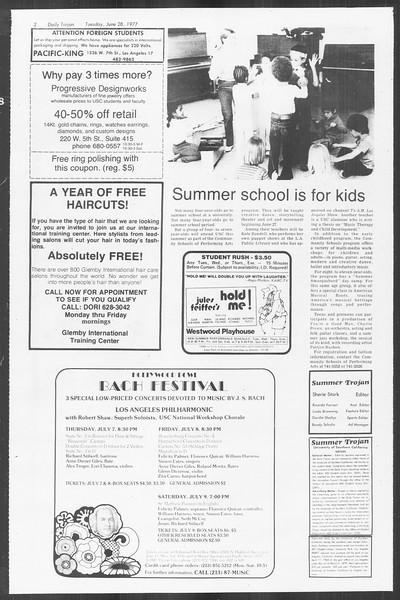 Summer Trojan, Vol. 72, No. 2, June 28, 1977