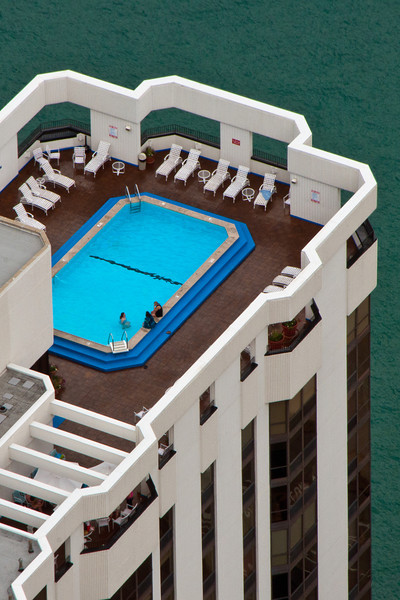 Rooftop swimming pool.