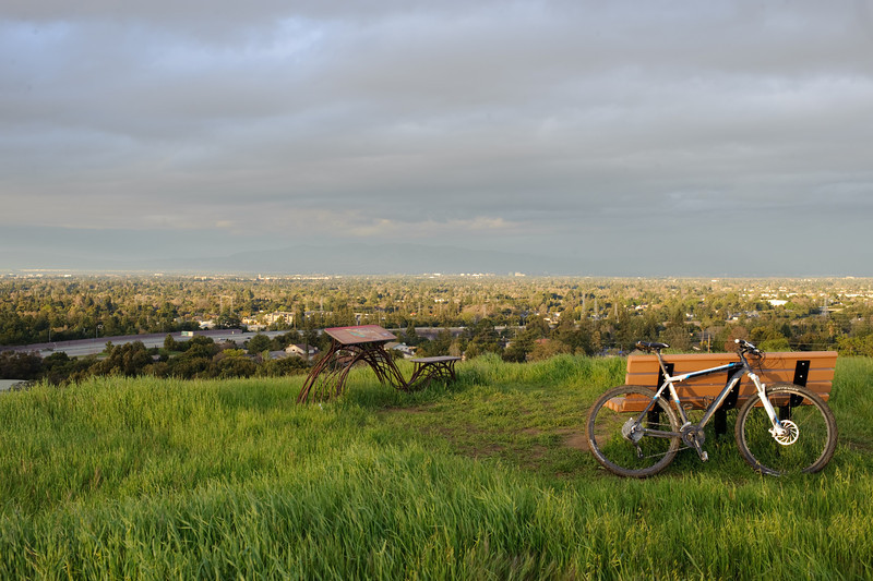 In the hills, looking over San Jose towards south.