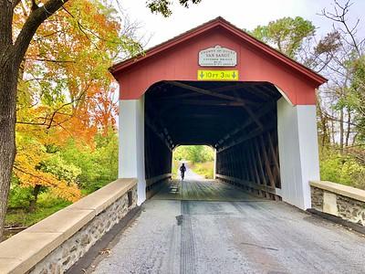 VAN SANDT COVERED BRIDGE, BUCKS COUNTY, PA