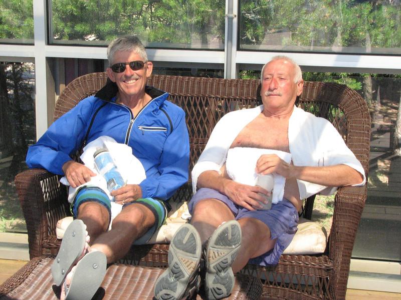 Doug and Bill at the spa.