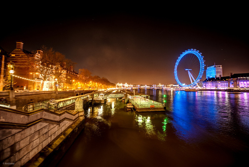 London Eye and the Thames River.