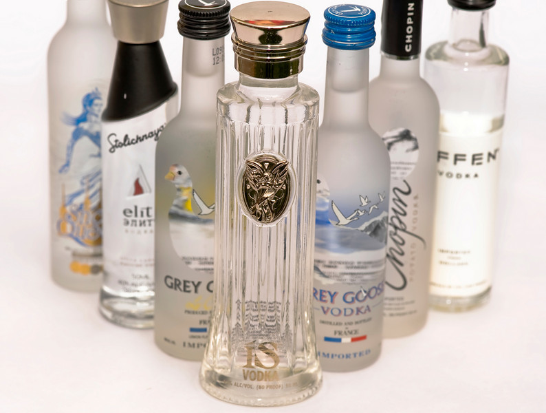 ISVodka 50 ML Collector's Bottle photograph.  Photography by Mark Bowers.