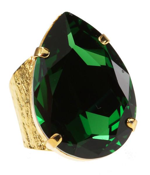 Perfect Drop Ring / Dark Moss Green