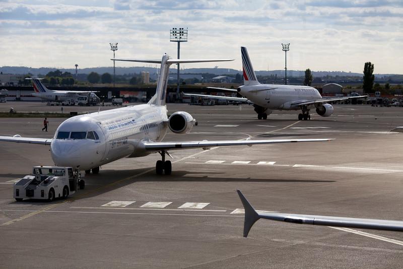 Air France plane, Orly Airport, Paris, France