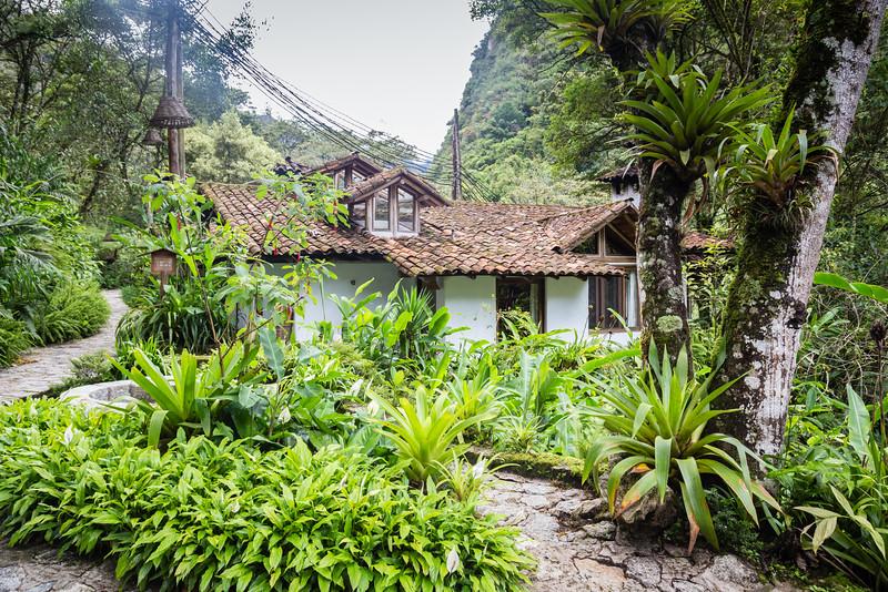 Luxury lodging at Inkaterra Machu Picchu Pueblo Hotel on a trip to Machu Picchu, Peru.