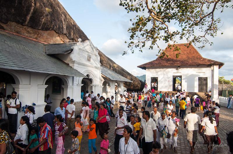 On the Vesak Day - Dambulla Cave Temple