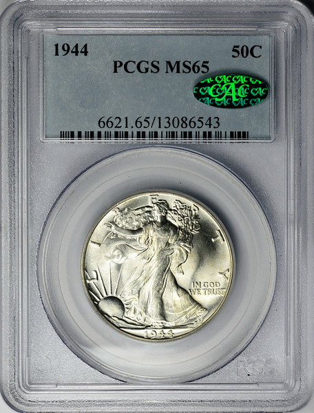 1944 HALF DOLLAR - WALKING LIBERTY PCGS MS65 CAC Obverse