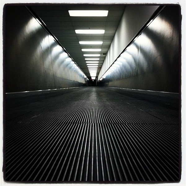 "1/19/12<br /> <br /> Taken with my phone at the airport. Kind of neat that it ""moves"" when you scroll up and down."
