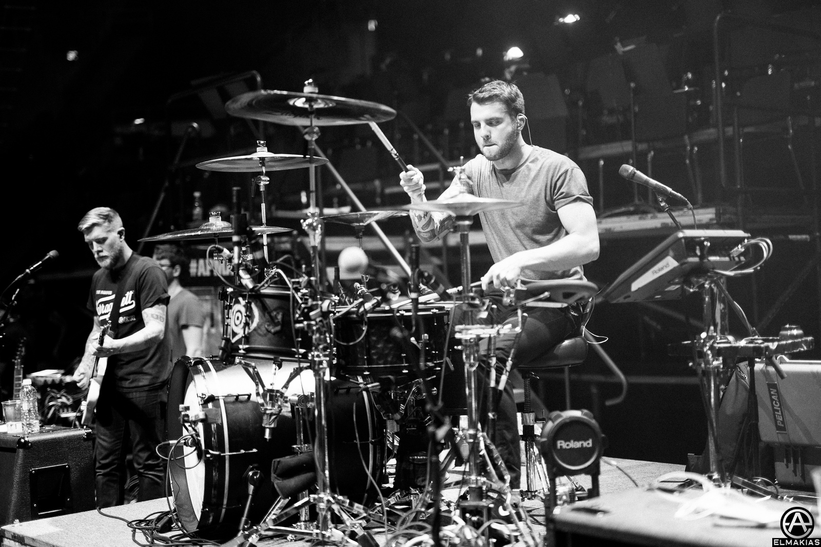 Rian Dawson of All Time Low at rehearsals for the Alternative Press Music Awards 2015