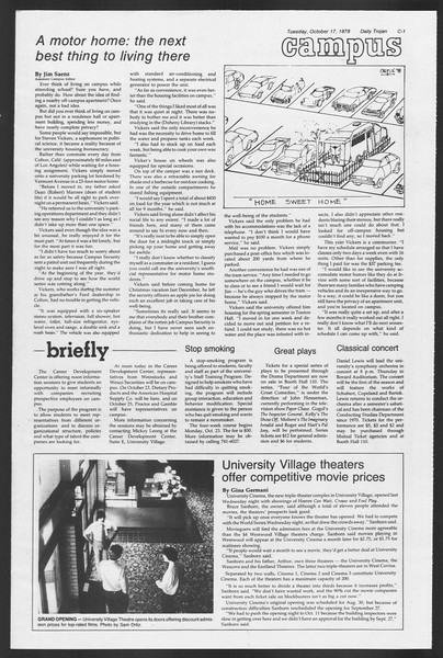 Daily Trojan, Vol. 75, No. 20, October 17, 1978