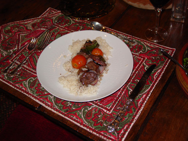 """Beef kabob receipe from """"Favorite recipes of Home Economics Teachers"""" cookbook. It's my all time favorite series of books."""