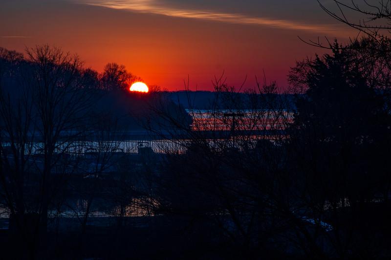 3.7.20 - Sunrise over Prairie Creek Marina this AM.