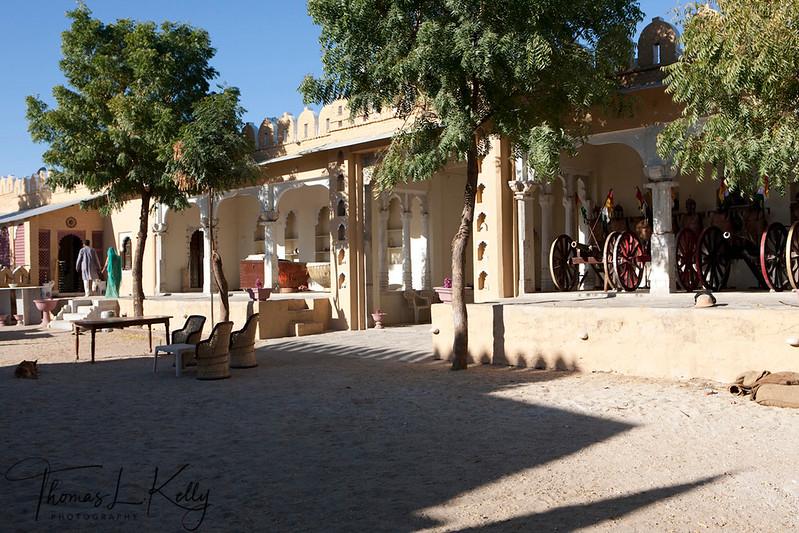 Marwar horse stable courtyard in Ranakpur.