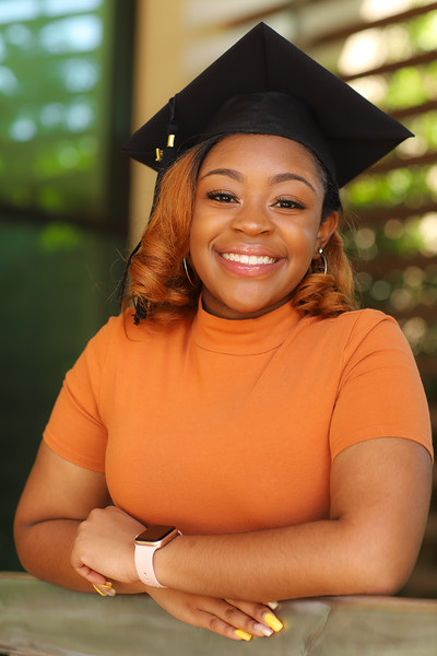 Graduating Senior Trinity Johnson
