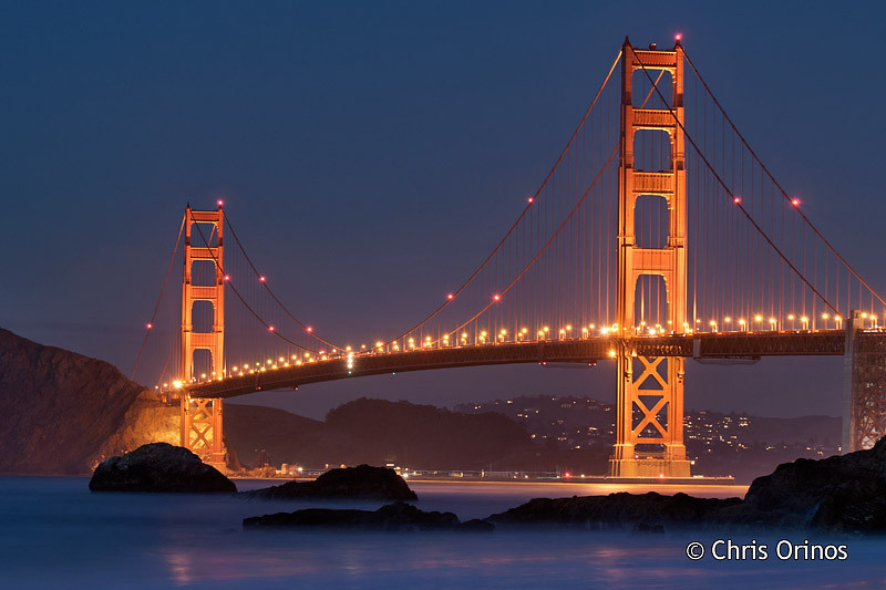 San Francisco | USA The majestic Golden Gate as the night comes in