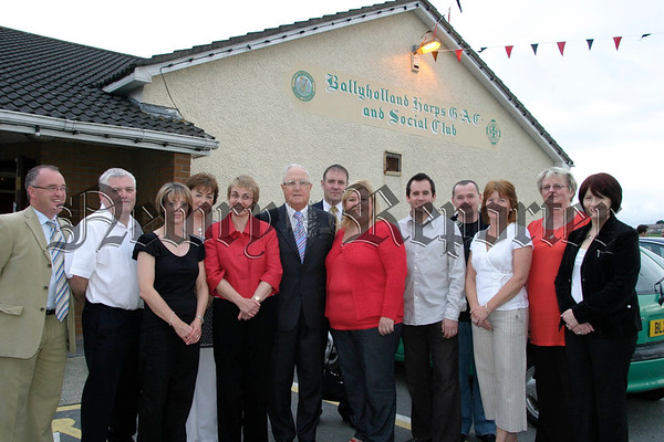 Margaret Richie (minister of social development) made a visit to Ballyholland last Thursday evening and met with the Ballyholland Development Association, The Association held a meeting about a proposed new community centre , Included are members of the Ballyholland development Association with Eddie Mc Grady, Karen Mc Kevitt and Sean Mc Ateer (chairman of ballyholland harps gfc).07W35N56