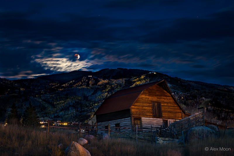 Lunar Eclipse over Mt. Werner