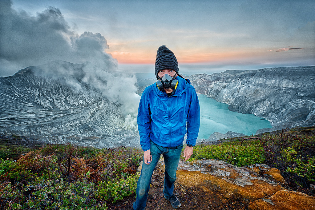 Ronald Nelson at Mt. Ijen, Indonesia
