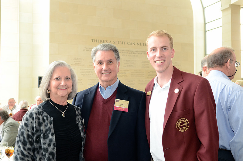 Joan and Jeff Bott '65, Chris Mellina '14