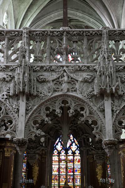 Troyes - Sainte-Madeleine Church - Choir Screen Center