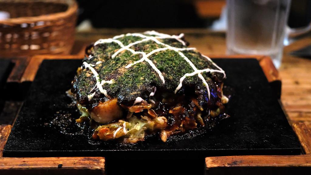 Hozenji-yaki okonomiyaki at Yakizen