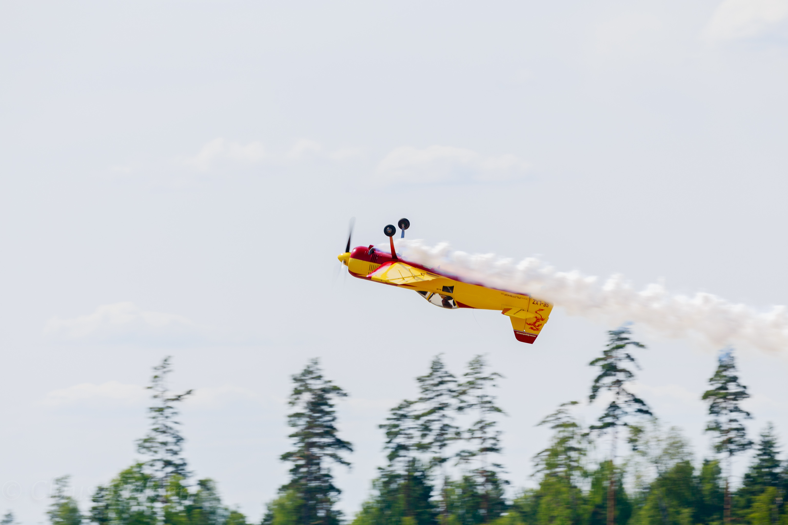 Inverted with smoke