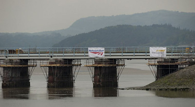Arnside viaduct reconstruction, 2011