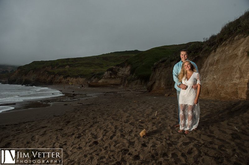Ana & Ross Engagement Photos on Rodeo Beach