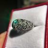 0.94ctw Vintage Old European Cut Diamond Dome Ring, Center OEC (GIA .59ct G SI2) 6