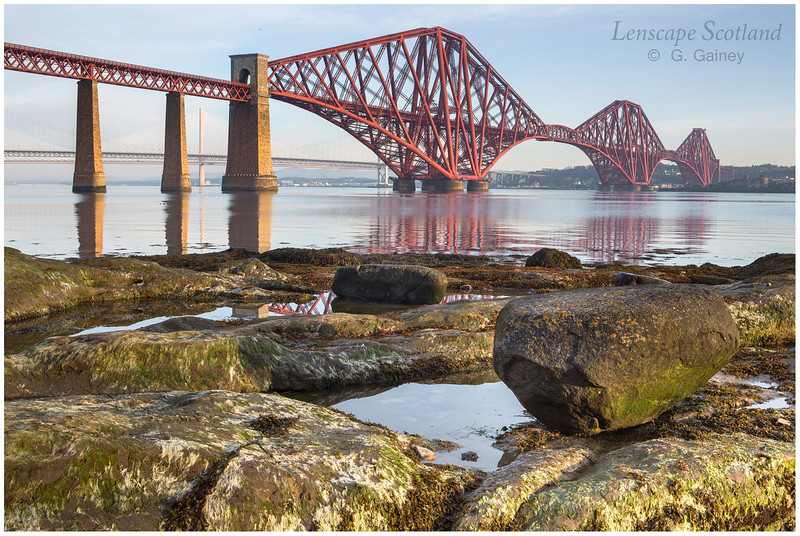 Forth Bridge from Queensferry, early morning