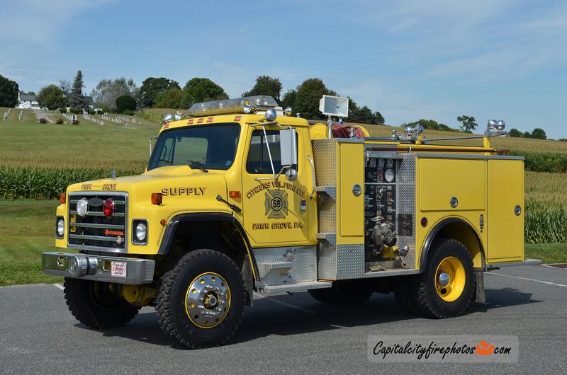 Fawn Grove (Citizens Fire Co.) Supply 56-1: 1987 International/Pierce 1000/300