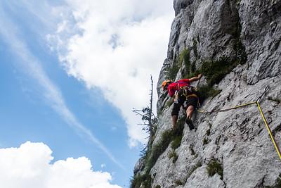 08 02 Rock climbing in Veliki vrh above Jezersko