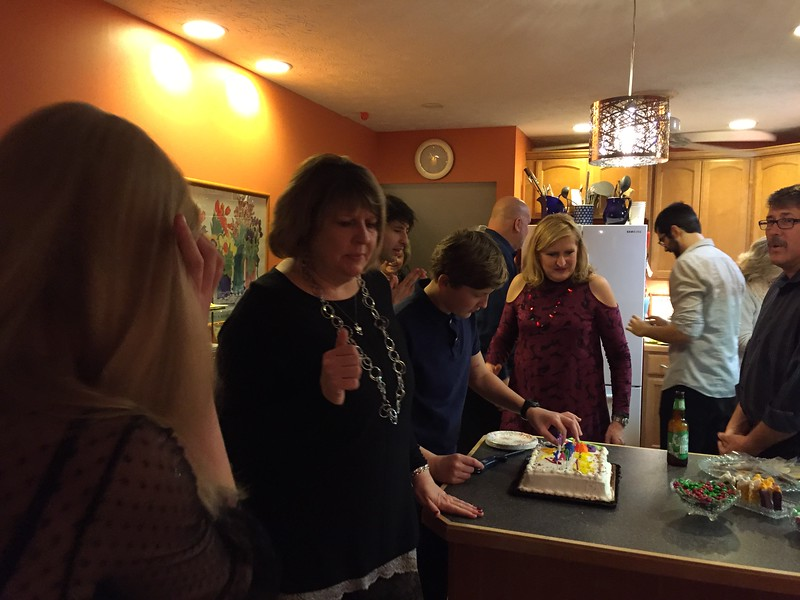 Celebrating the December birthdays -- Alex, Tyler, Amy and Walt