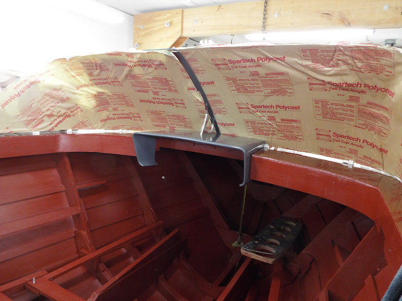 Fitting the fiberglass instrument housing.