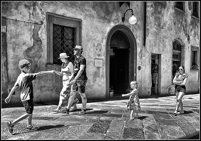 San Gimignano  in black and white