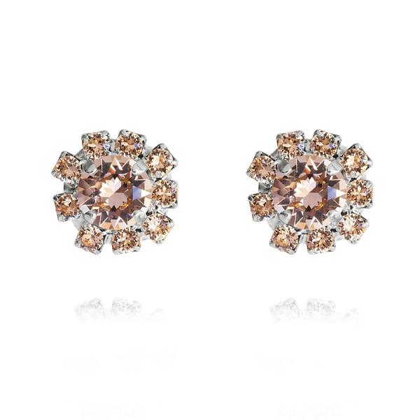 Aello Stud Earrings / Vintage Rose / Rhodium